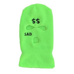 SAD SKIMASK . neon GREEN .